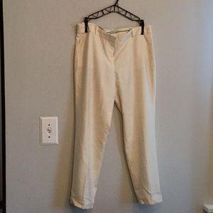 J crew size 8 cream wool cafe Capri cuffed pants